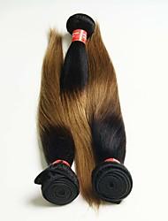 Омбре Бразильские волосы Прямые 12 месяцев 3 предмета волосы ткет