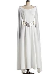 Cosplay Kostüme Prinzessin Film Cosplay Silber / Weiß einfarbig Kleid / Gürtel Halloween / Weihnachten Frau