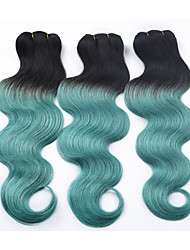3 Pièces Ondulation naturelle Tissages de cheveux humains Cheveux Brésiliens 0.3kg 8-30 inch Extensions de cheveux humains
