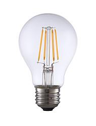 4W E26 Lâmpadas de Filamento de LED A60(A19) 4 COB 350 lm Branco Quente Regulável AC 110-130 V 1 pç