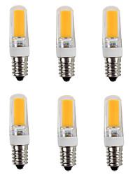 4W E14 LED Doppel-Pin Leuchten T 1 COB 380 lm Warmes Weiß / Kühles Weiß AC 220-240 V 6 Stück