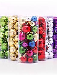 1pcs (36pcs) couleur décoration cadeaux noël aléatoire rôle ofing noël ornements d'arbre cadeau de Noël pendent  rôle de cloche