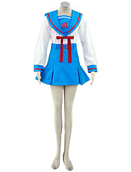 Haruhi Suzumiya Cosplay Costumes Top /  Skirt / Bow Kid