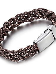 Kalen New Fashion Bracelets 316 Stainless Steel Shiny Charm Bracelets Durable Braided Leather Bracelets For Men From China Supplier