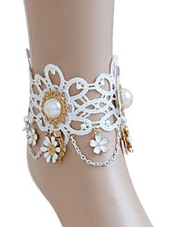 Women's Anklet/Bracelet Lace Bridal Jewelry For Wedding