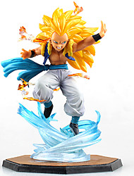 Figures Anime Action Inspiré par Dragon Ball Cosplay Anime Accessoires de Cosplay figure Jaune PVC