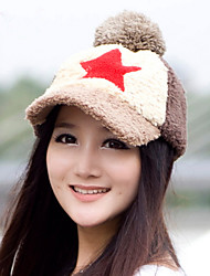 Autumn And Winter Fashion Five - Pointed Star Plush Baseball Cap Women 'S Wool Hat Cap