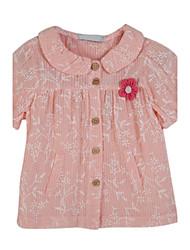 Menina de Blusa,Casual Floral Algodão Verão Rosa