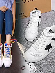 Homme-Décontracté-Noir / Rouge / GrisConfort-Sneakers-Polyuréthane