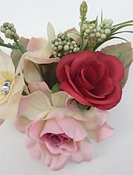 Fleurs de mariage Roses / Pivoines Boutonnières Mariage / Le Party / soirée Satin / Strass