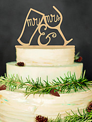 Europe and the United States the wedding decoration cake inserted card Wedding celebrations wooden cake inserted personalized wedding festive decorati
