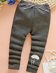 Menina Calças Casual Estampado Inverno / Outono Algodão