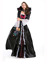 Queen Fairytale Festival/Holiday Halloween Costumes Red White Black Solid DressHalloween Christmas Carnival Children's Day New Year