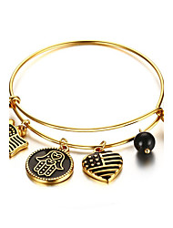Women's Charm Bracelet Jewelry Halloween /Party/Birthday/Daily Fashion Stainless Steel/Gold Plated Golden 1pc Gift