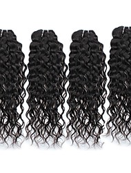 Brazilian Virgin Hair Water Wave 4 Bundles Wet And Wavy Virgin Brazilian Human Hair Weave Brazillian Weave Hair Extensions