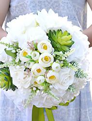 Fleurs de mariage Rond Roses Bouquets Mariage / Le Party / soirée Polyester / Satin / Fleur séchée Env.25cm