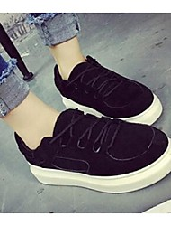 Women's Sneakers Comfort Fleece Casual Black / Coffee