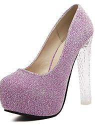 Women's Heels Spring Summer Fall Winter Platform Glitter Wedding Dress Party & Evening Platform Crystal Heel Sparkling GlitterPurple