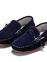 Boy's Loafers & Slip-Ons Moccasin Suede Casual Blue / Red
