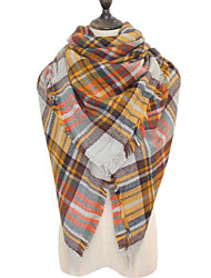 Women Faux Fur Scarf,Casual SquareHoundstooth