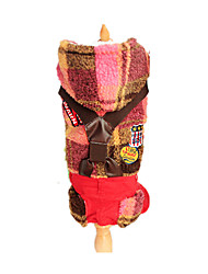 Dog Clothes/Jumpsuit Red / Yellow Dog Clothes Winter Plaid/Check Keep Warm