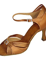Women's Dance Shoes Satin / Leatherette Latin / Jazz / Swing Shoes / Salsa Sandals / Heels Customizable