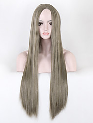 Wig False Hair Synthetic Wigs for Black Women 80cm Long Straight Natural Cheap Hair jenner Gray Wig Female Hair