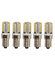 5PCS A Fil Others E14 64 SMD 3014 AC220V 650 lm Warm White Neutral White Glue Waterproof Lamp Other
