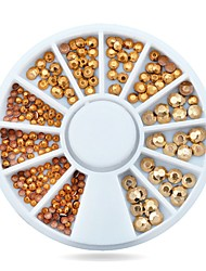 1pcs Gold 3d Nail  Rhinestone Acrylic Glitter Charm Nail Accessories