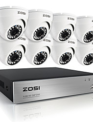 zosi®hd 8ch 720p dvr 8pcs 1.0MP wetterfeste Outdoor-Home-Security-Kamera-Überwachung-Kits
