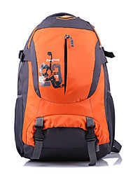 55 L Randonnée pack Etanche / Vestimentaire / Respirable Vert / Rouge / Noir / Bleu / Bleu Foncé / Orange