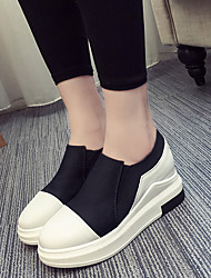 Women's Sneakers Fall Comfort Fabric Casual Black Red