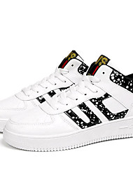 Femme-Extérieure / Décontracté / Sport-Noir / Blanc-Talon Bas-A Plateau / Confort-Sneakers-Polyuréthane