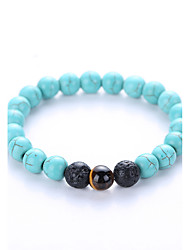 Men's Women's Strand Bracelet Yoga Bracelet Birthstones Agate Gem Turquoise Jewelry For Party Birthday Congratulations Business Gift