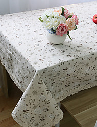 Rectangular Floral Table Cloth , Linen / Cotton Blend MaterialHotel Dining Table Wedding Party Decoration Wedding Banquet Dinner