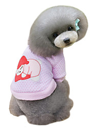 Dog Sweatshirt / Jacket / Pajamas Pink Dog Clothes Winter Cartoon Cute / Keep Warm