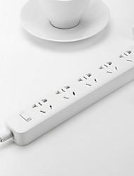 original xiaomi® 3 puertos de carga usb mini tira de alimentación con 3 tomas enchufe estándar - blanco