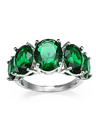 Ring AAA Cubic Zirconia European Zircon Cubic Zirconia Purple Green Jewelry For Halloween Daily Casual 1pc