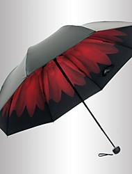 Vermelho / Preta Guarda-Chuva Dobrável Sombrinha Plastic Carrinho