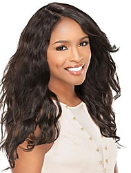 Natural Looking Brazilian Human Hair Lace Wig Natural Wavy with Baby Hair