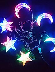 le stelle la stringa di luce della luna di colore luminoso supporto 30 della lampada 6 si blocca