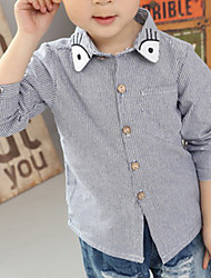 Boy Casual/Daily Solid Shirt,Cotton Winter Long Sleeve Short