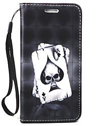 Pour Portefeuille / Porte Carte Coque Coque Intégrale Coque Crâne Dur Cuir PU pour LG LG G4 Stylus / LS770