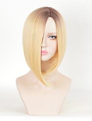 loiro ombre peruca celebirty Kylie Jenner Usa peruca novo destaque penteado beleza peruca cosplay curto perucas sintéticas resistentes ao