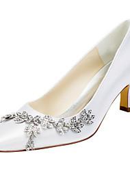 Damen-High Heels-Hochzeit / Kleid / Party & Festivität-Stretch - Satin-Stöckelabsatz-Others-Schwarz / Rosa / Lila / Rot / Elfenbein /
