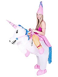 Riding unicorn Inflatable Costume Child Unicorn Rider Costume Hallween Party Costumes Fancy Dress Funny Costume Free Size for Kids