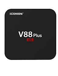 scishion V88 pro rockchip 3329 android 6.0 caixa de smart tv 2g ram 8g rom Core HD quad