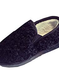 Damen-Stiefel-Lässig-PU-Flacher Absatz-Komfort-Schwarz Braun Grau