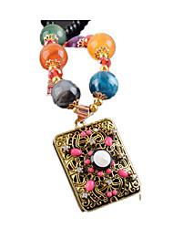 Ожерелье длинное ожерелье Бижутерия Повседневные С логотипом / Квадрат Искусственный жемчуг Женский 1шт Подарок Желтоезолото