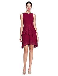 ts couture® prom Cocktailparty a-line Juwel knielangen Spitze / Georgette mit Spitzenkleid